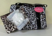 Modella Traveller with Fitted Pod Travel Kit, Cheetah Zebra, 4 pc