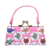Owl Lipstick Case with Handle Kids Coin Mini Purse - Pink