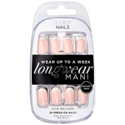Small White Tip Beige Base Press On Nails