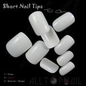 Short Acrylic Artificial False Nail Tips 100x Full Cover Fake Nail Art Tips Makeup DIY