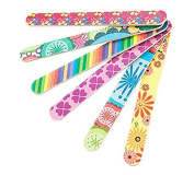 VNDEFUL 10Pcs Colourful Mini Cute Professional Double Sided Nail Files Emery Board Grit Gel Cosmetic Manicure Pedicure