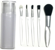 5 Pieces Professional Makeup Brush Set Cosmetics Brushes Kit with Brush Holder