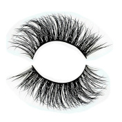 3D 100% Siberian Mink Fur False Eyelashes Women's Makeup Natural Reusable with Clear Invisible Flexible Band Fake Lashes Hand-made