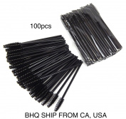 100 Pcs Disposable Eyelash Mascara Wand Applicator Brush Cosmetic Eye Wands Brush Makeup Applicators