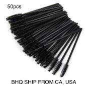 50 Pcs Disposable Eyelash Mascara Wand Applicator Brush Cosmetic Eye Wands Brush Makeup Applicators