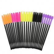 Coshine 100pcs 5 Styles Disposable Silicone Eyelashes Makeup Brushes Mascara Wands Applicator Spoolers Makeup Tool