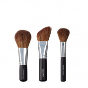 VEGAN LOVE Flawless Face Angled Face Brush Trio, Tapered Cheek