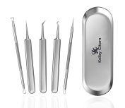 Keiby Citom Blackhead Remover Tweezers Kit,Anti-allergy Stainless Steel Blemish Comedone Acne Pimple Extractor Set Tools with Metal Case