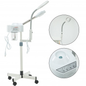 IdealchoiceProduct Spa Beauty 2 in 30mlone Facial Steamer with Magnifying Lamp 5 Diopter Professional Hot Facial Ozone Steamer for Facials Salon Spa Beauty Equipment for face on wheels
