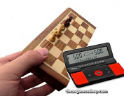 "Magnet chess set 7"" (18cm) with digital Clock DGT960 -timer-Travel-Pocket chess"