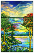 Autumn Landscape inspired by Louis Comfort Tiffany Counted Cross Stitch Pattern