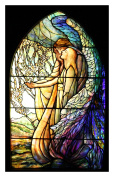 The Guiding Angel inspired by Louis Comfort Tiffany Counted Cross Stitch Pattern