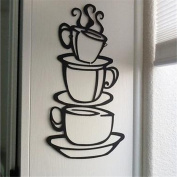 Vibola 2017 Cup Decals Vinyl Wall Sticker Removable DIY Kitchen Decor Coffee House