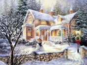 Full Drill Snow Hut House 5D DIY Artificial Diamond Embroidery Cross Stitch Painting Décor UHBGT