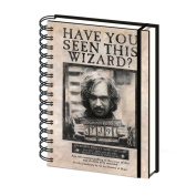 Officially Licenced Harry Potter Wanted Sirius Black A5 Notebook
