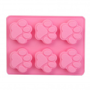 6 - Cat Paw Silicone Candy Ice Cube Chocolate Cake Cookie Cupcake Soap Moulds Mould DIY Mould