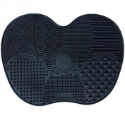 LIPOVOLT Silicone Makeup Brush Black Cleaner Pad Washing Scrubber Board Cleaning Mat Hand Tool L