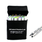 FINECOLOUR 24 36 48 60 72 160 Colours set Double Headed Sketch Marker Alcohol Based Painting Drawing Art Marker