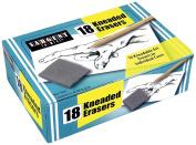 Sargent Art 36-1018 18 Kneaded Erasers, 2.5cm - 1.3cm x 2.5cm x 1cm Ea