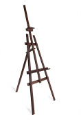 STUDIO EASEL (1.8m high) DISPLAY - PINE WOOD - CANVAS - PICTURE - HOLDER - brown