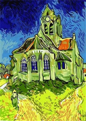 Dorara DIY Oil Painting Paint By Number Hand Paintworks 16×50cm Vincent Van Gogh-The Church At Auvers