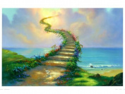 Dorara DIY Oil Painting Paint By Number Hand Paintworks 16×50cm jim warren stairway to heaven