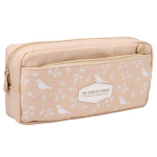 Large Capacity Canvas Pencil Case Pen Bag Stationery Pouch Cosmetic Bag for Teens Girls Yellow