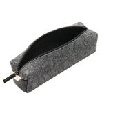 Classic Felt Pencil Case Soft Pen Bag Stationery Pouch Cosmetic Bag for Boys Girls Light Grey