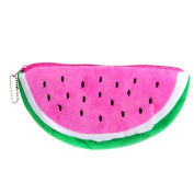 Cute Fruits Canvas Pencil Case Pen Bag Stationery Pouch Cosmetic Bag Pencil Holder for Women Girls Pink