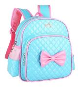 Yokeeyoo Kids PU Cute Bowknot Backpack School Bag Book Bag for Kindergarten Girl