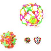 Mini Sphere Expandable ACTIVE FIDGET BALL -With Ball Inside, Sensory Toy, Autism & Keyring LED Light
