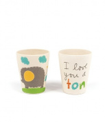 Tiny Footprint Elephant Cups 2 Pack