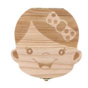 Baby Tooth Organiser, RrQuickies Milk Tooth Wood Storage Box Teeth Hair Save Box