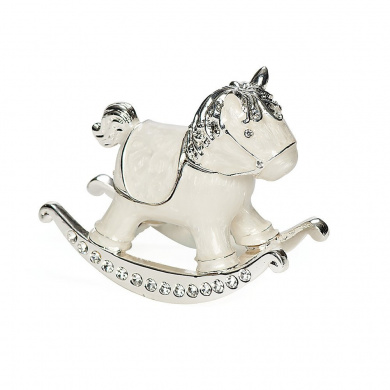 6.4cm H Rocking Horse Trinket Box Trinket Box by Roman