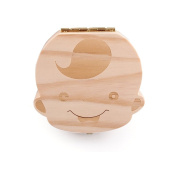 Baby Tooth Keepsake Organiser Wooden Boxes Personality Deciduous Souvenir Box