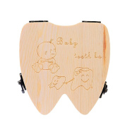 Tooth Box Organiser for Baby Teeth Save Milk Teeth Wood Case Storage Tooth Box Nacome