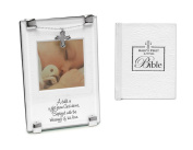 Baptism Gift For New Baby | Gift From God Baptism Photo Frame and Babys First Bible | Christening Gift for Boy or Girl from Godmother or Godfather