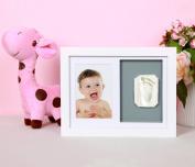Benail Newborn Baby Handprint and Footprint Wood Frame Keepsake Kit