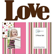 Mainstays Expression 3 piece Baby Wall Frame Set
