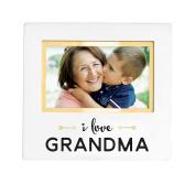 Pearhead Sentiment Keepsake Photo Frame, White I love Grandma