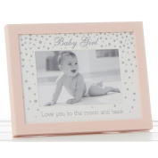 "Lovely ""Baby Girl"" Pink 15cm x 10cm Christening Photo Frame by Haysom Interiors"