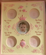 Disney Baby Girls Milestone Frame 19.5 X 9 Holds 5 Photos