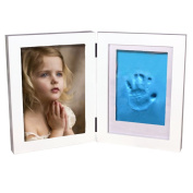 Yoolove Handprint & Footprint Frame, Baby Photo Frame Keepsake Clay Kits,Perfect for Baby Gift Set