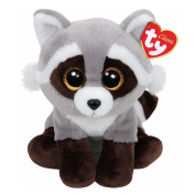 "Ty Classic Beanies TY Classic Plush - BANDIT the RACCOON (13 inch from tail) 25cm Medium Buddy Size 9"" …"