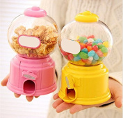 URToys 1Pcs Cute Sweets Mini Twist Candy Machine Bubble Gumball Gum Nuts Dispenser Piggy Bank Saving Coin Money Storage Bank Kids Toy Children Christmas Gift