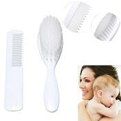2Pcs Baby Boy Girl Safety Soft Brush Comb Set Baby Hair Shower Design Scalps