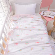 J-pinno Baby Sweet Pink Nursery Muslin Cotton Bed Quilt Blanket Crib Coverlet 110cm X 110cm