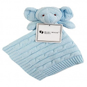 Baby cotton knit security blanket elephant head gift set babies