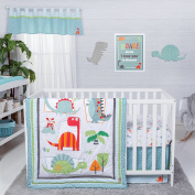 Trend Lab Dinosaur Roar 3 Piece Crib Bedding Set, Multi