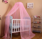 Johouse Baby Mosquito Net Dome Ground Palace Type to Open The Door,Pink